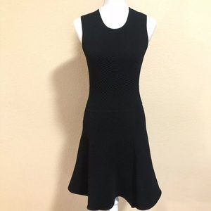 Torn by Ronny Kobo M Black Flare Bodycon Dress